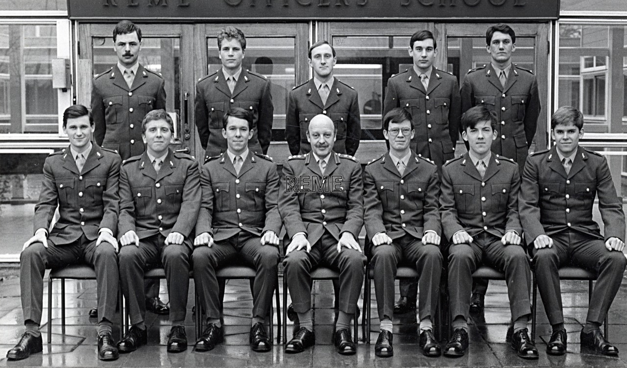 No 71 Regular Young Officers' Course, REME Officers' School, c 1979