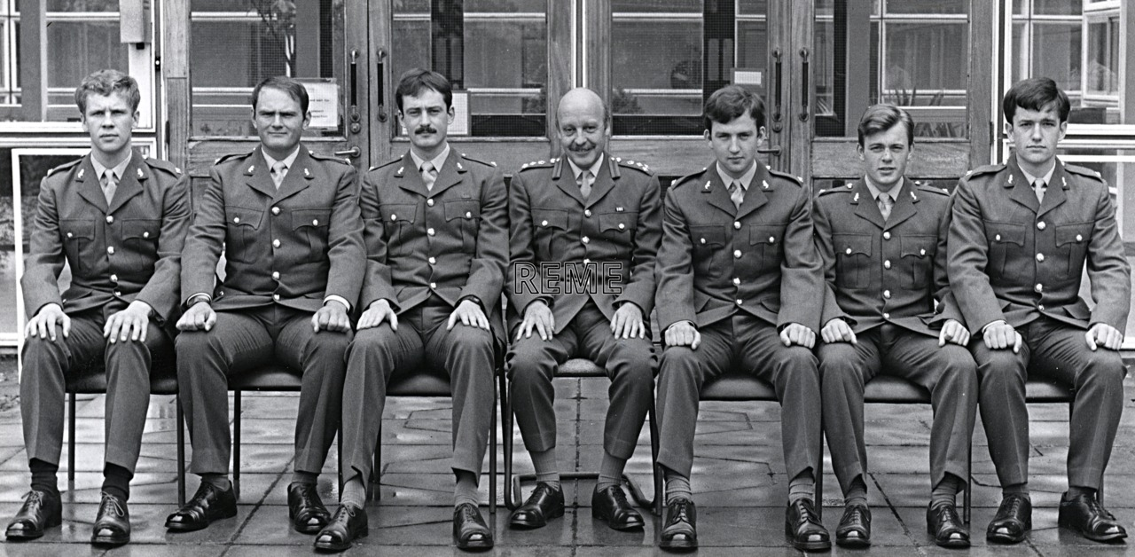 No 72 Regular Young Officers' Course, REME Officers' School, c 1980