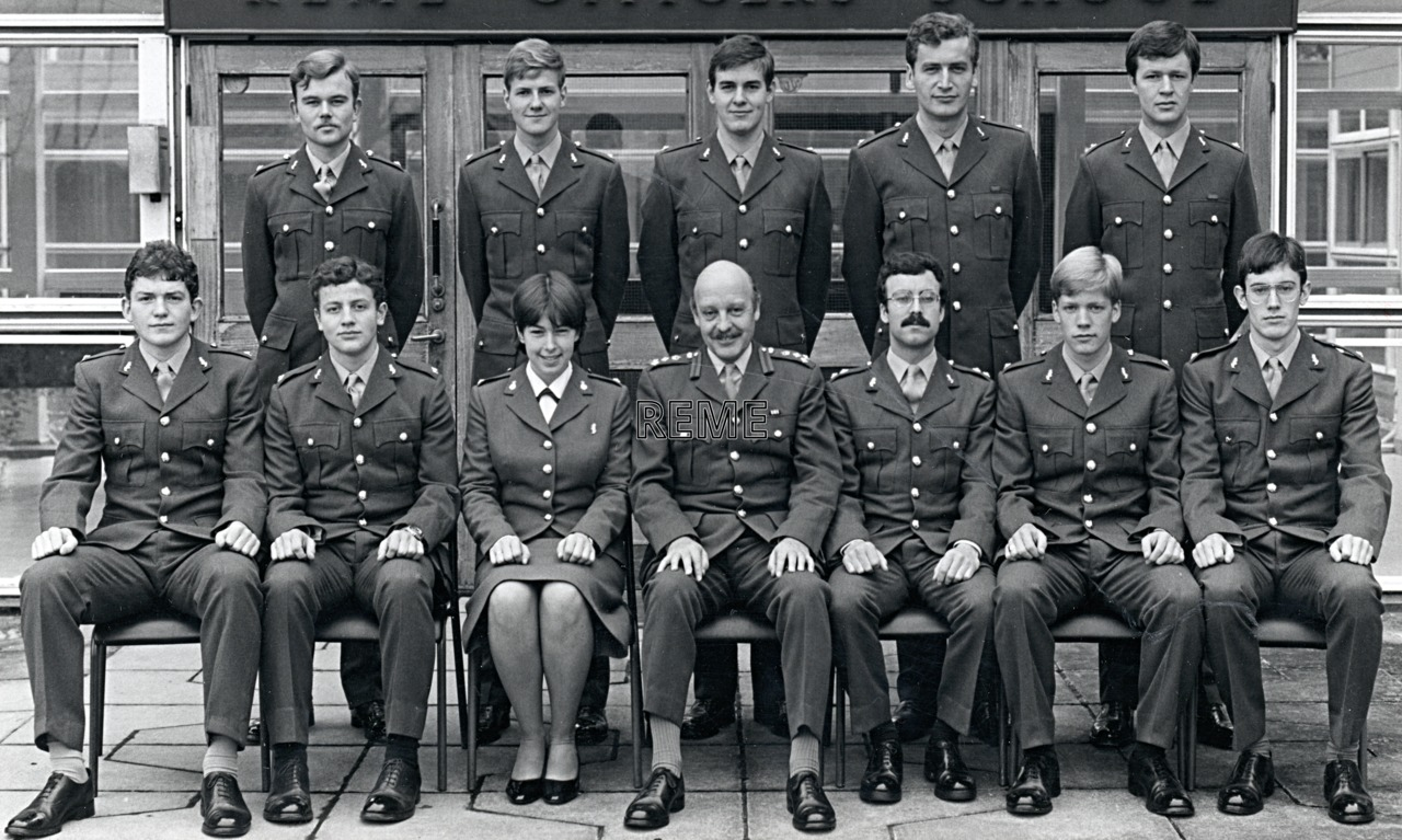No 73 REME Young Officers' Course, REME Officers' School, c 1980