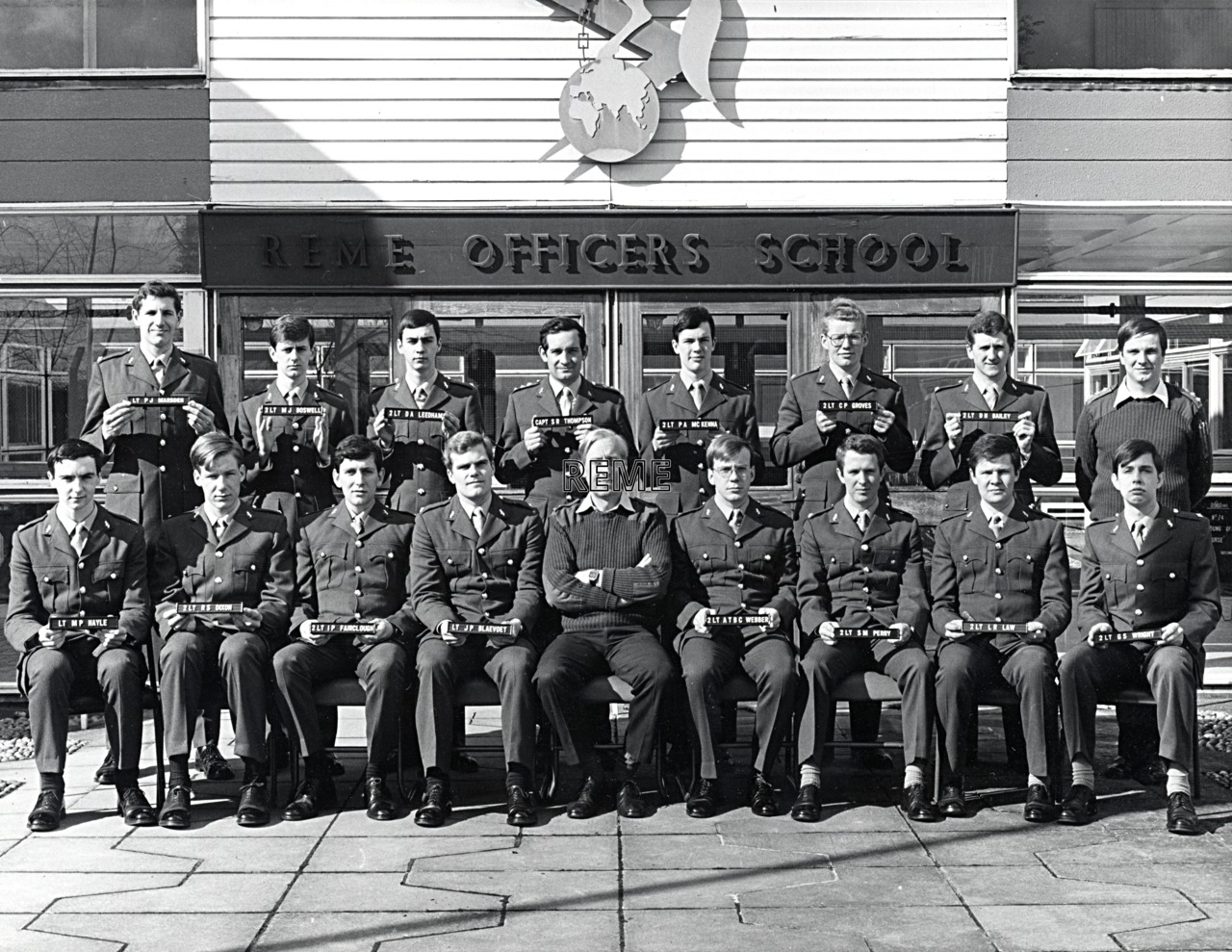 No 74 Regular Young Officers' Course, REME Officers' School, 1981.