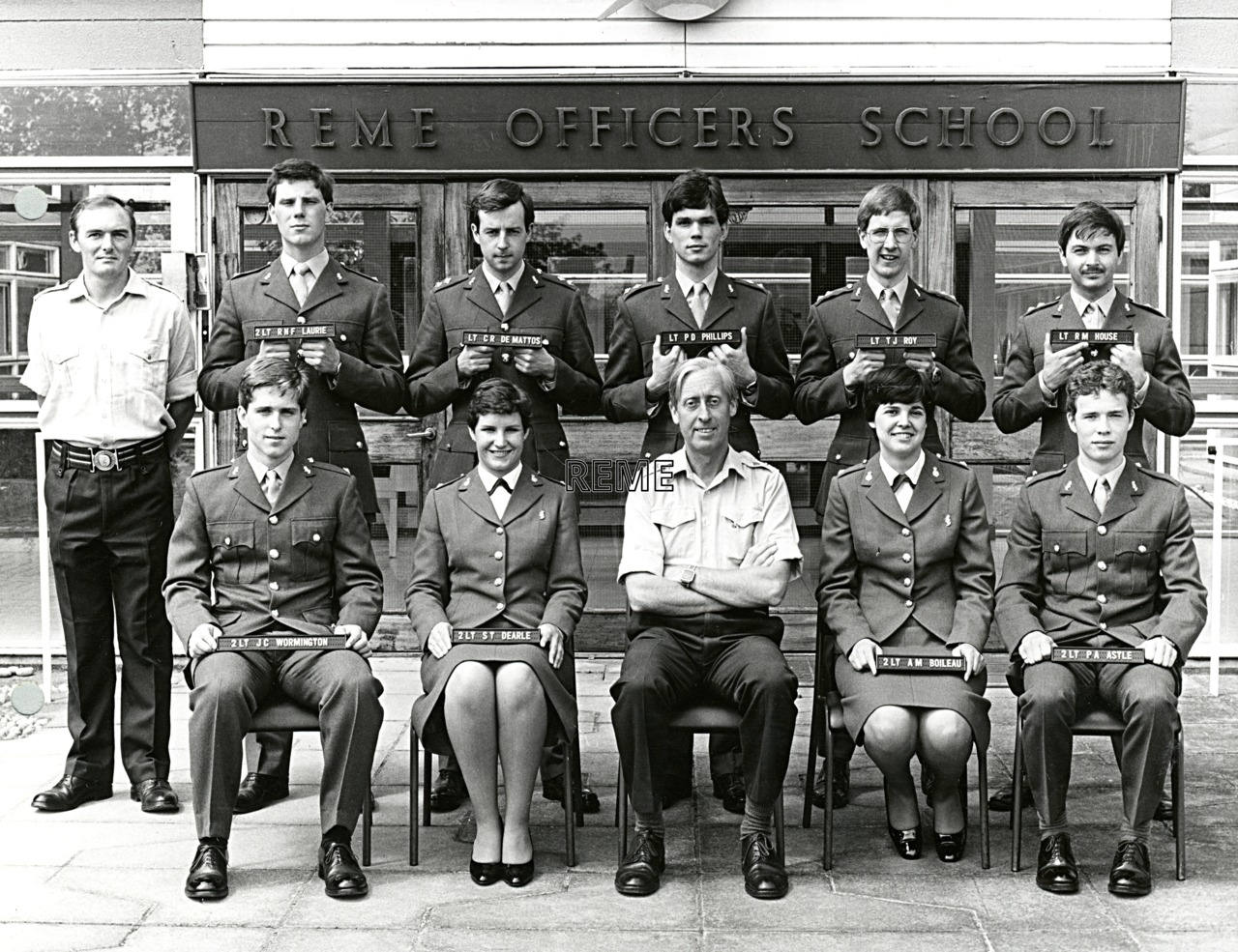 No 75 Regular Young Officers' Course, REME Officers' School, 1981.
