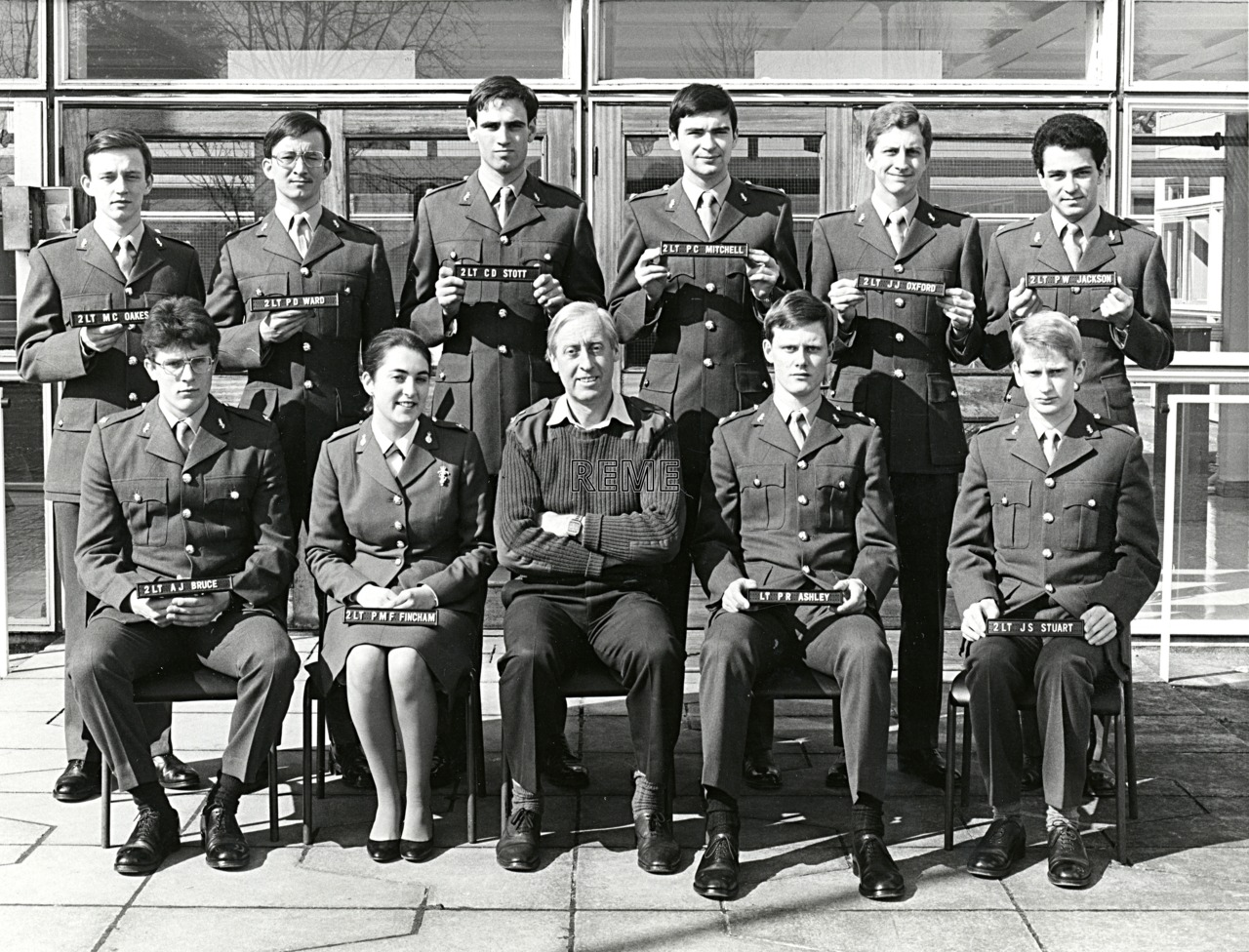 No 77 Regular Young Officers' Course, REME Officers' School, 1982.