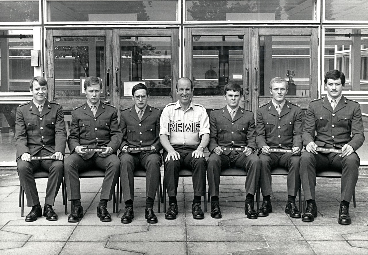 No 78 Regular Young Officers' Course, REME Officers' School, c 1982