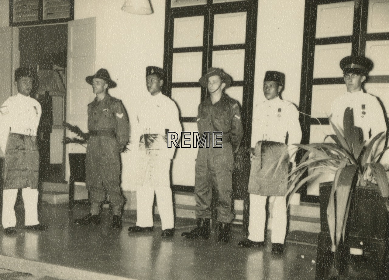 Guard of Honour at a cocktail party in Malaya (Malaysia), March 1958