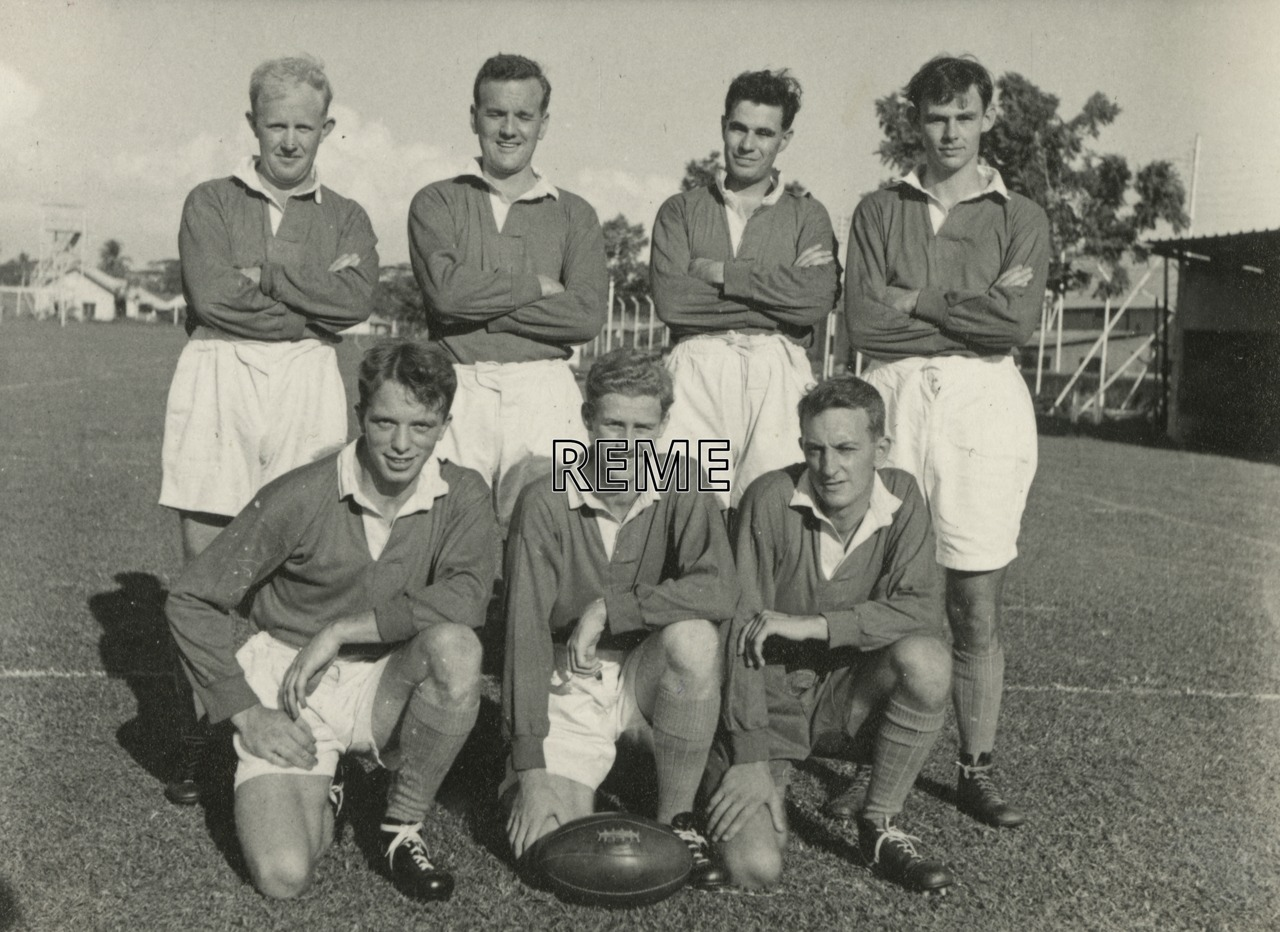 Seven-a-Side rugby team, c 1958