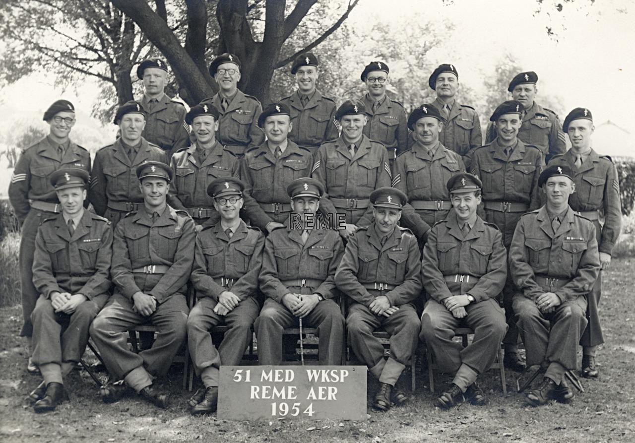 51 Medium Workshop, REME Army Emergency Reserve, 1954