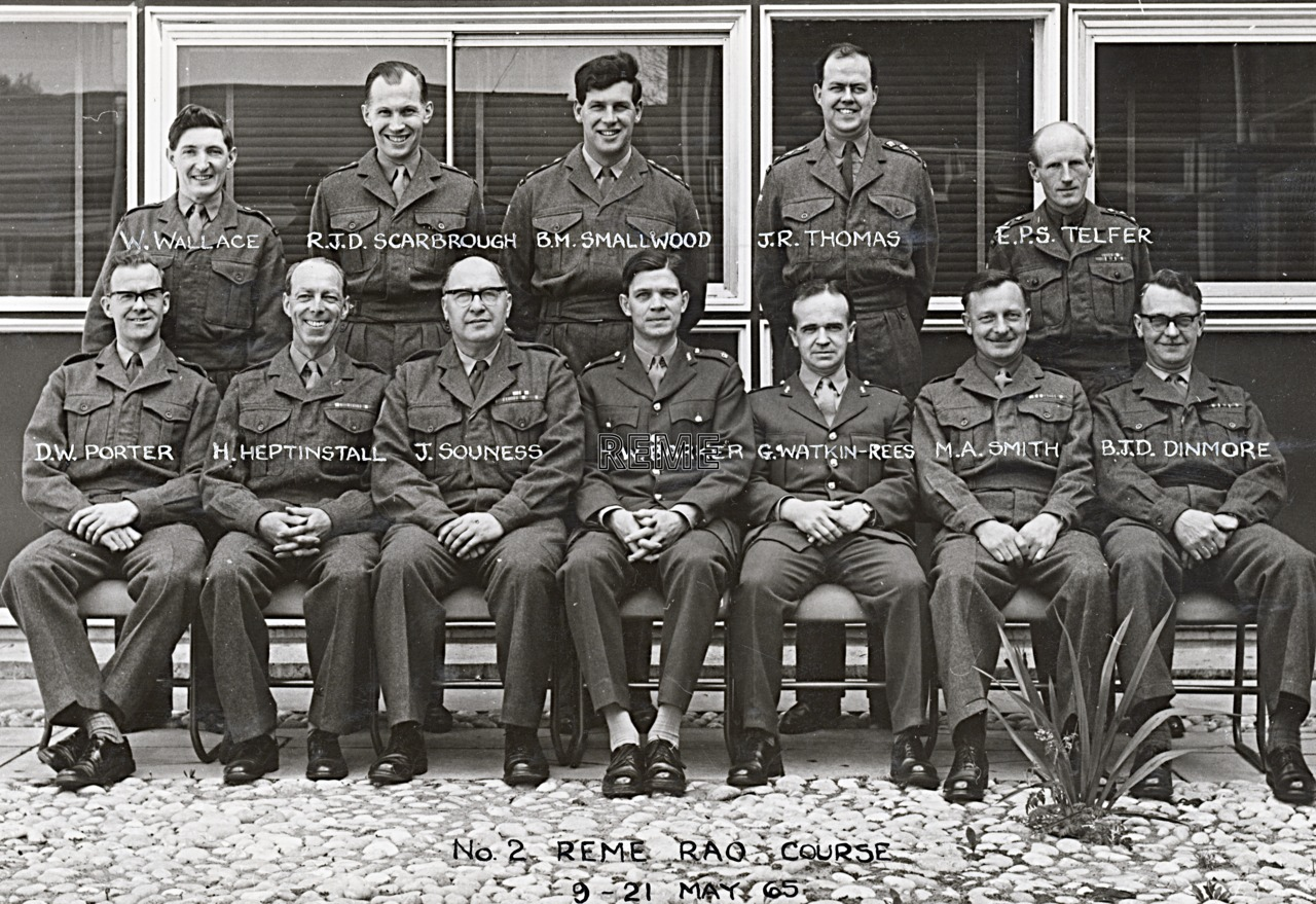 No 2 REME Regular Army Officers' Course, 9 to 21 May 1965
