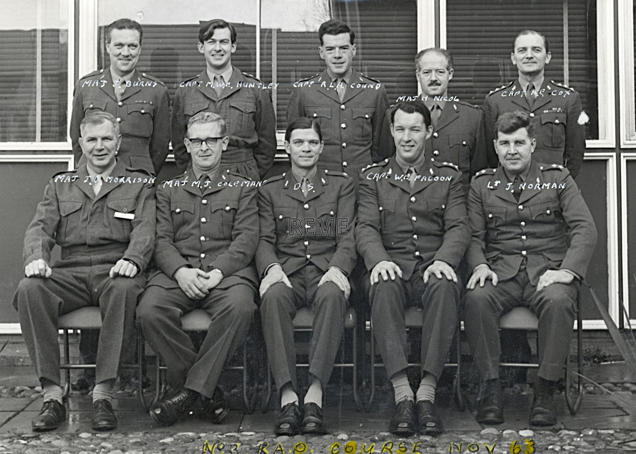 No 2 REME Regular Army Officers' Course, November 1963