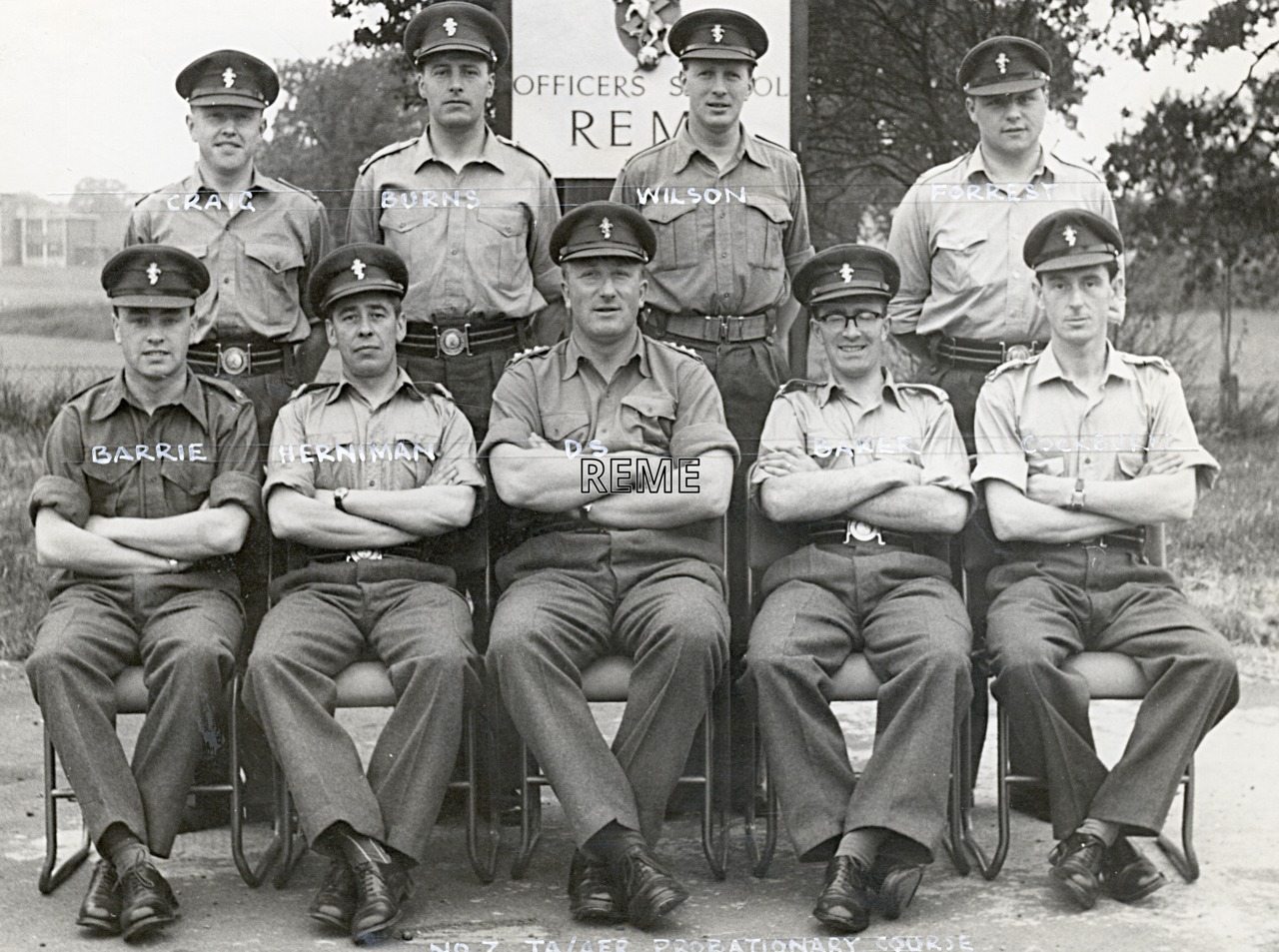 No 7 Territorial Army (TA)/Army Emergency Reserve (AER) Probationary Officers' Course