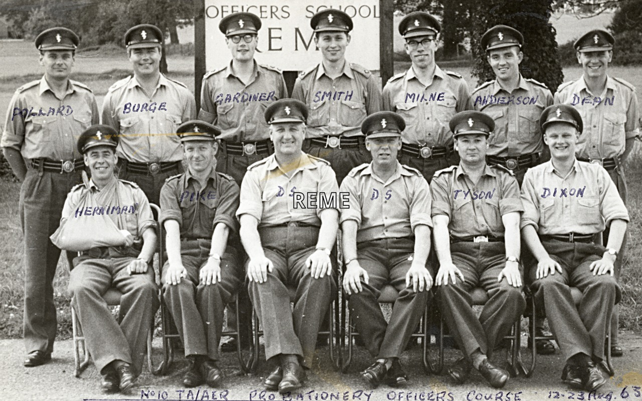 No 10 Territorial Army (TA)/Army Emergency Reserve (AER) Probationary Officers' Course, 12 to 23 August 1963
