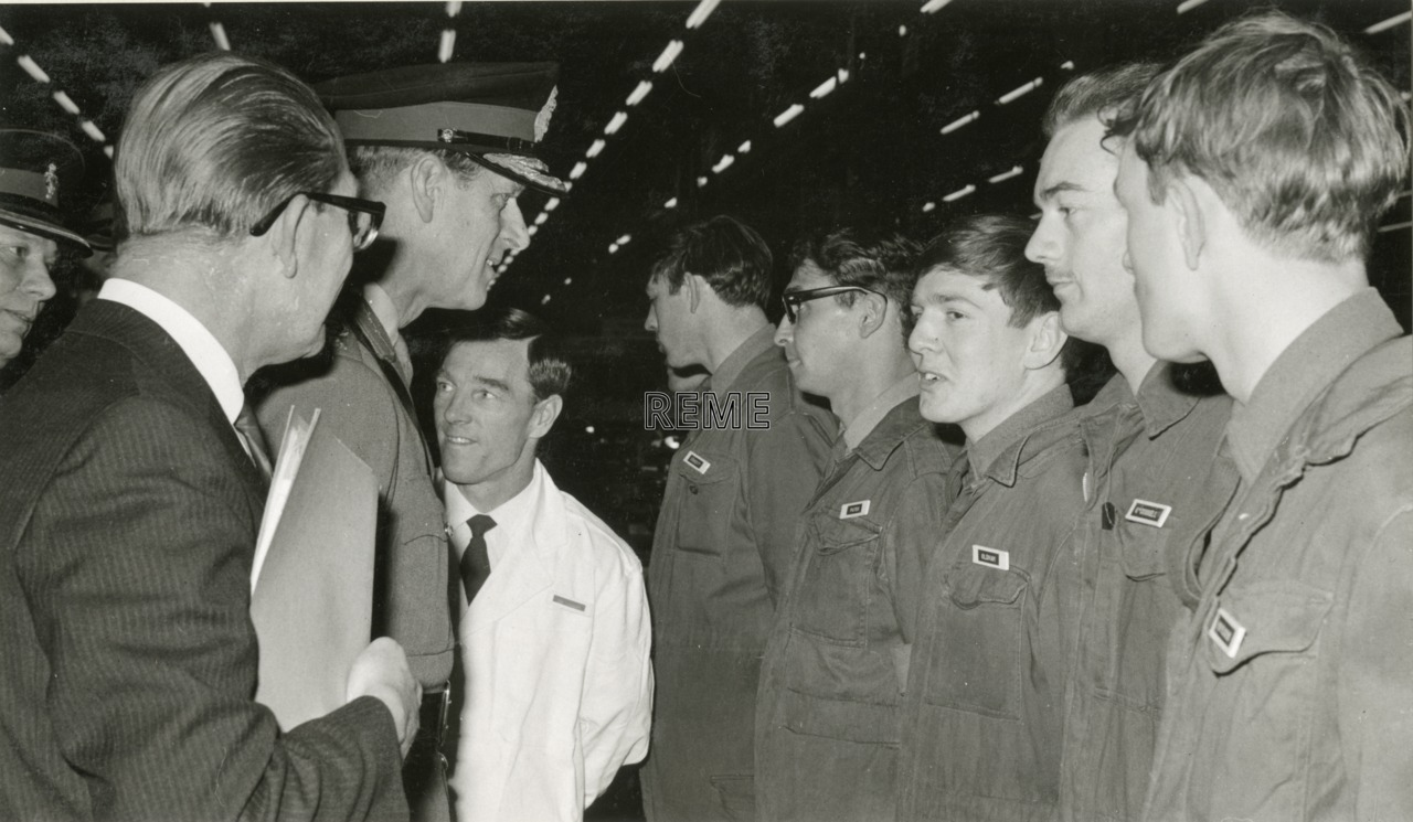 'Visit of the Colonel In Chief to the School of Electrical and Mechanical Engineering'
