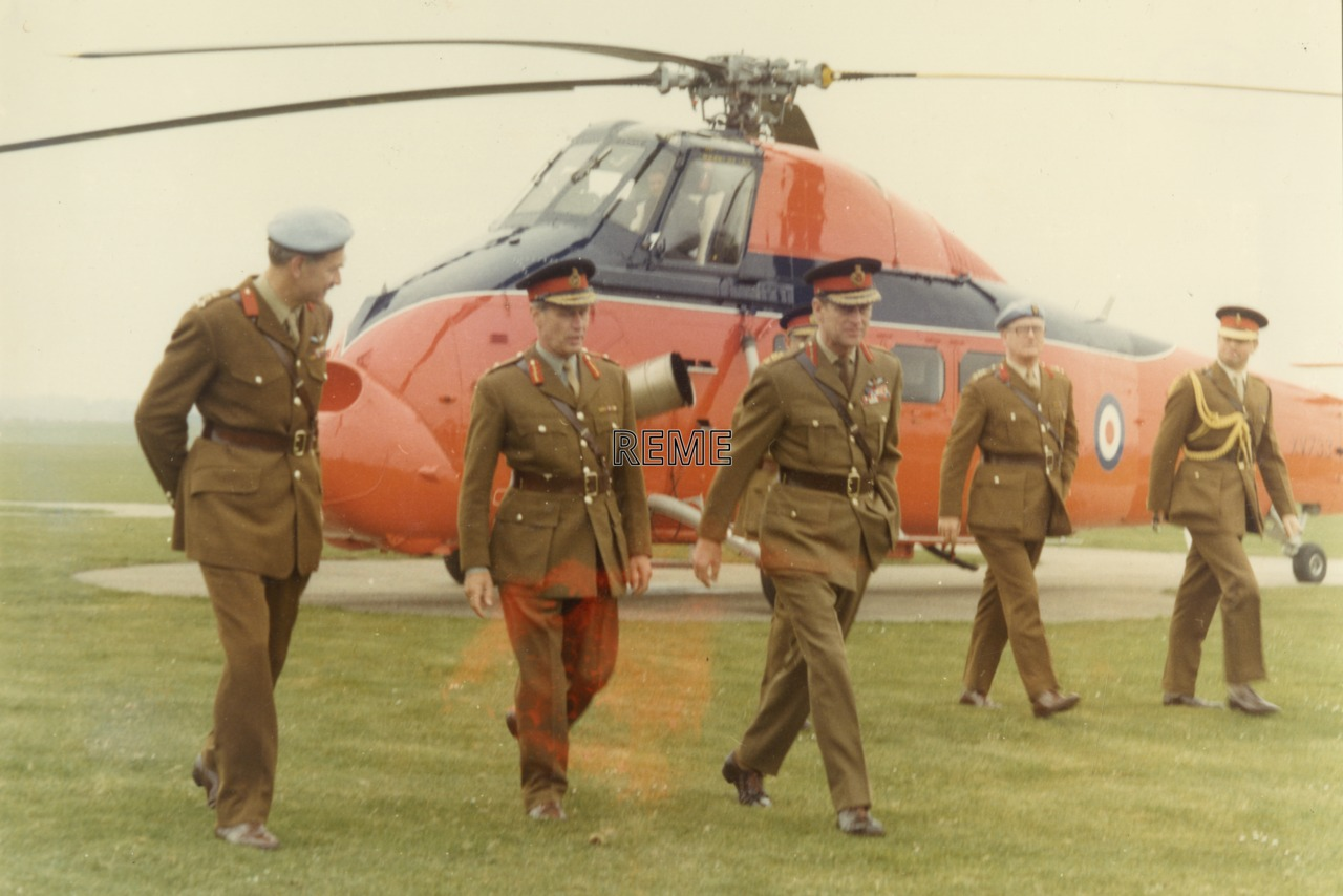 'Visit of His Royal Highness Prince Philip Colonel In Chief REME to Aircraft Technical Service Unit REME'