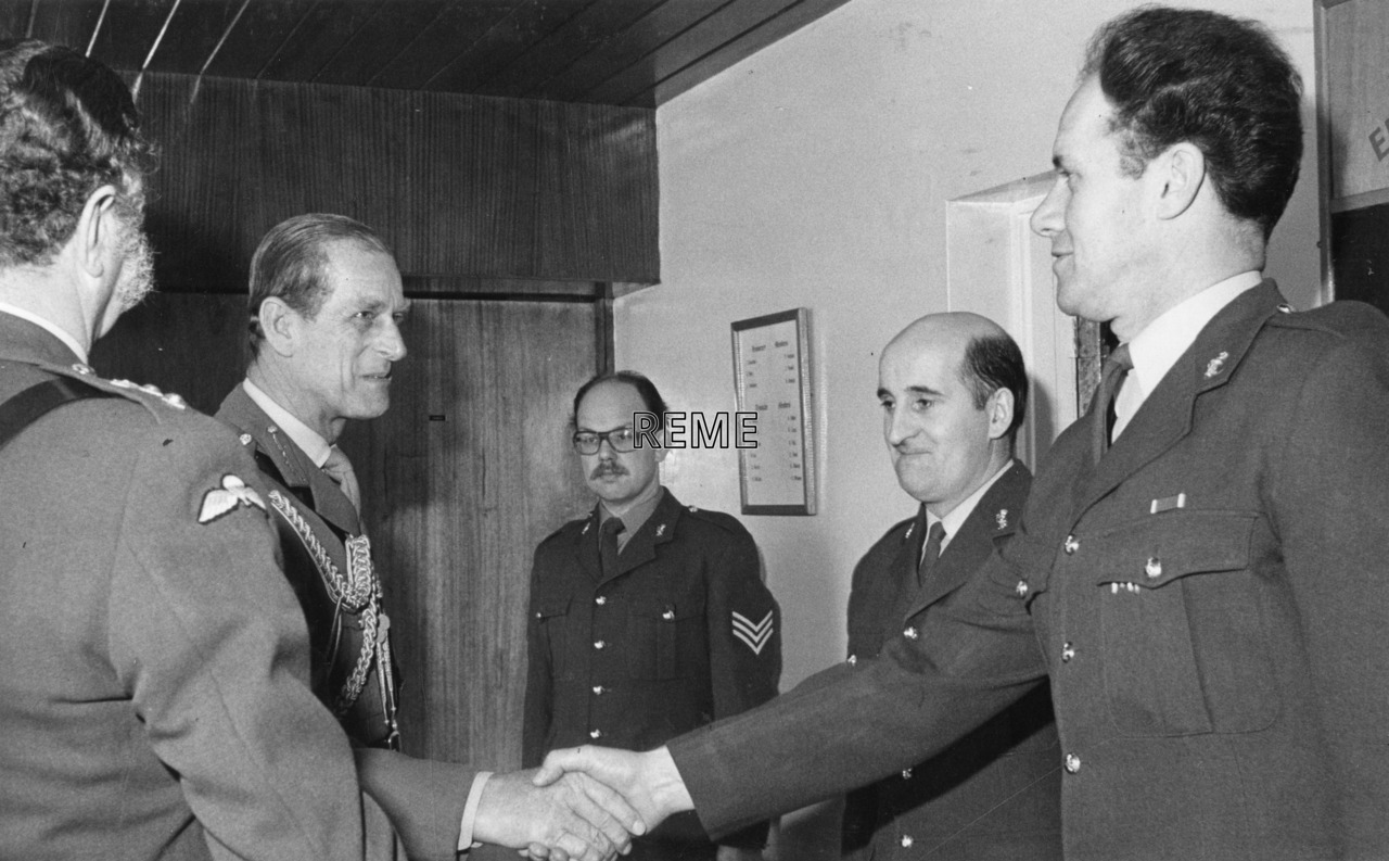 'Visit of the Colonel In Chief to 35 Central Workshop REME'