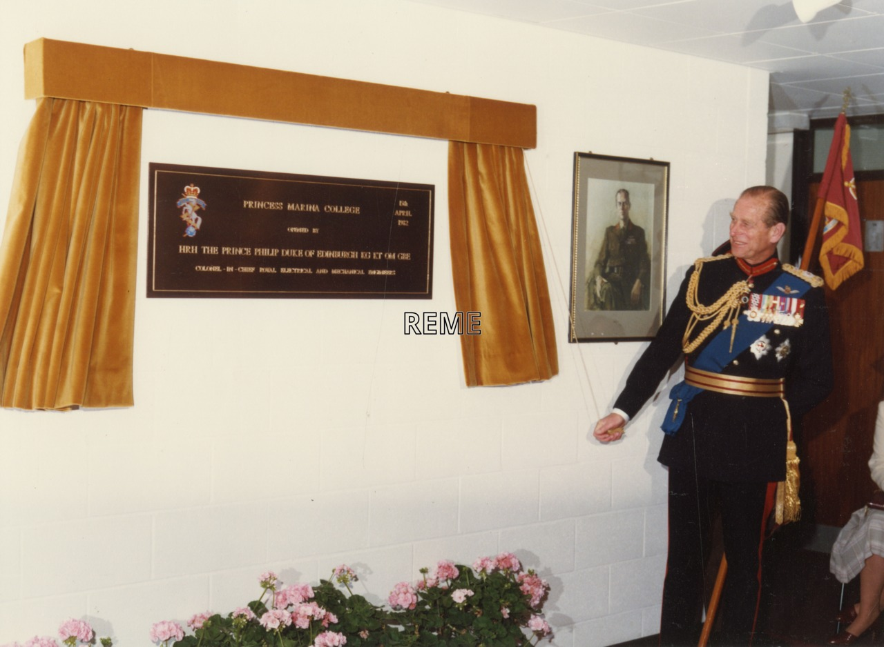 Visit of the Colonel in Chief to Princess Marina College, Arborfield