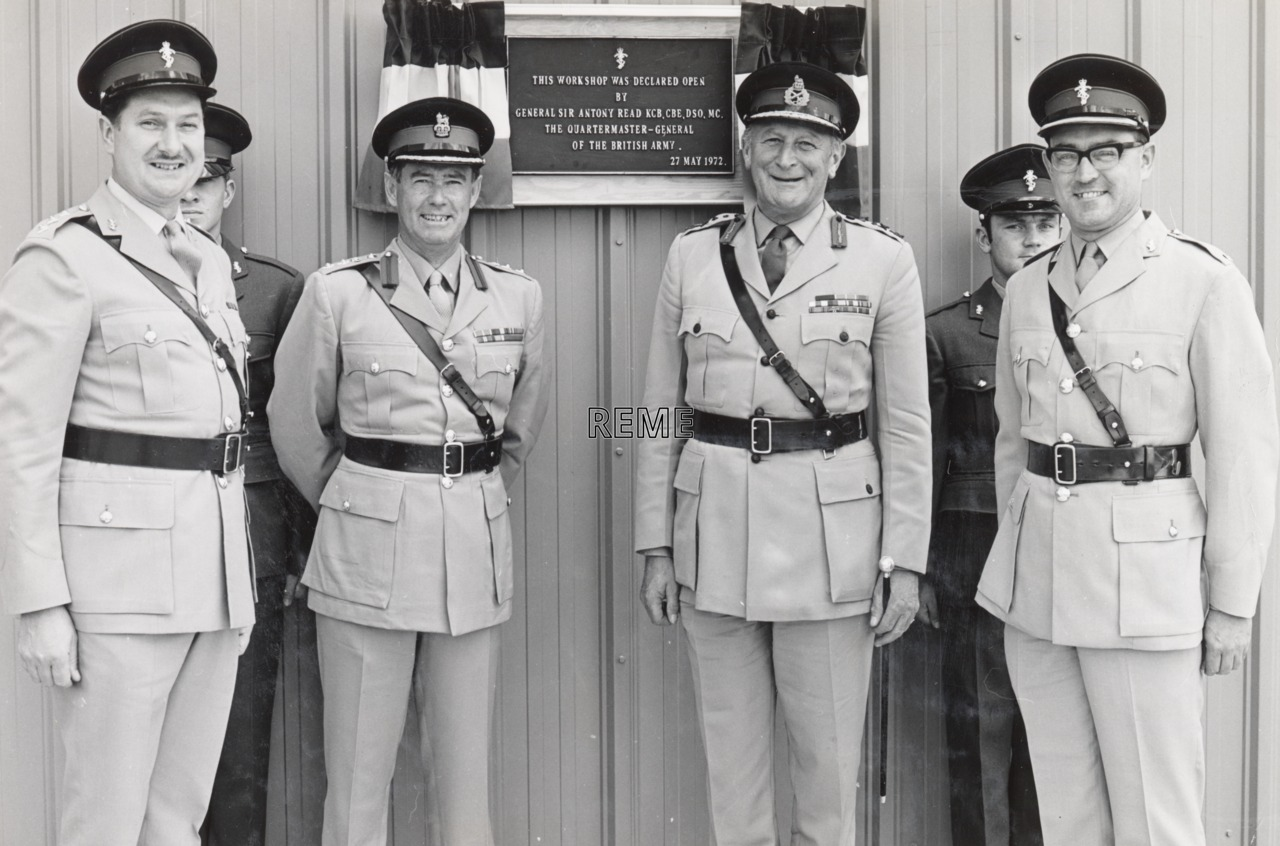 Official Opening of REME Workshop with British Army Training Unit, Suffield, Canada, 27 May 1972