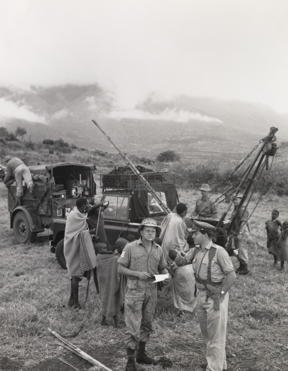 Recovery Exercise, Rift Valley, Ngong Hills, Kenya, January 1963.