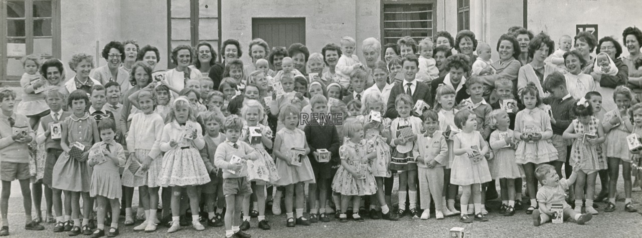 53 Command Workshop, Malta, Annual Wives Club Children's Party, Easter 1963.