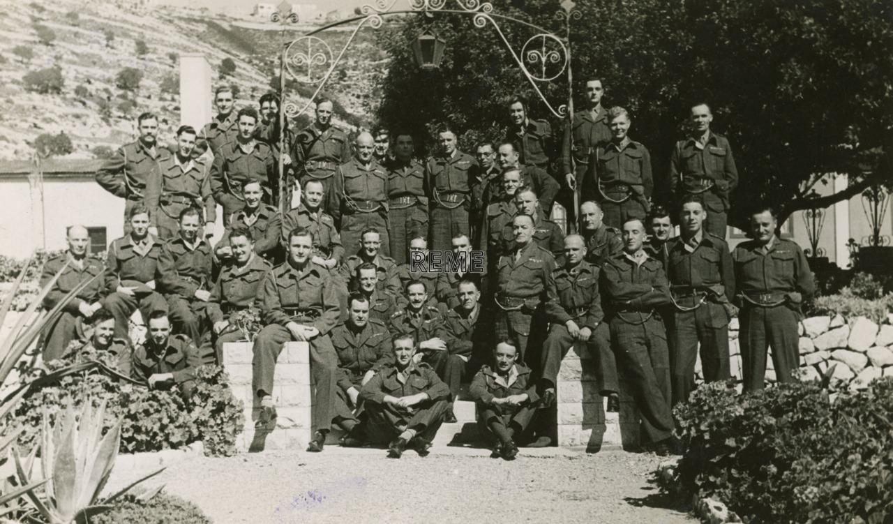 Officers' Mess, HQ 3 Base Workshop REME, Palestine (Israel), March 1948.