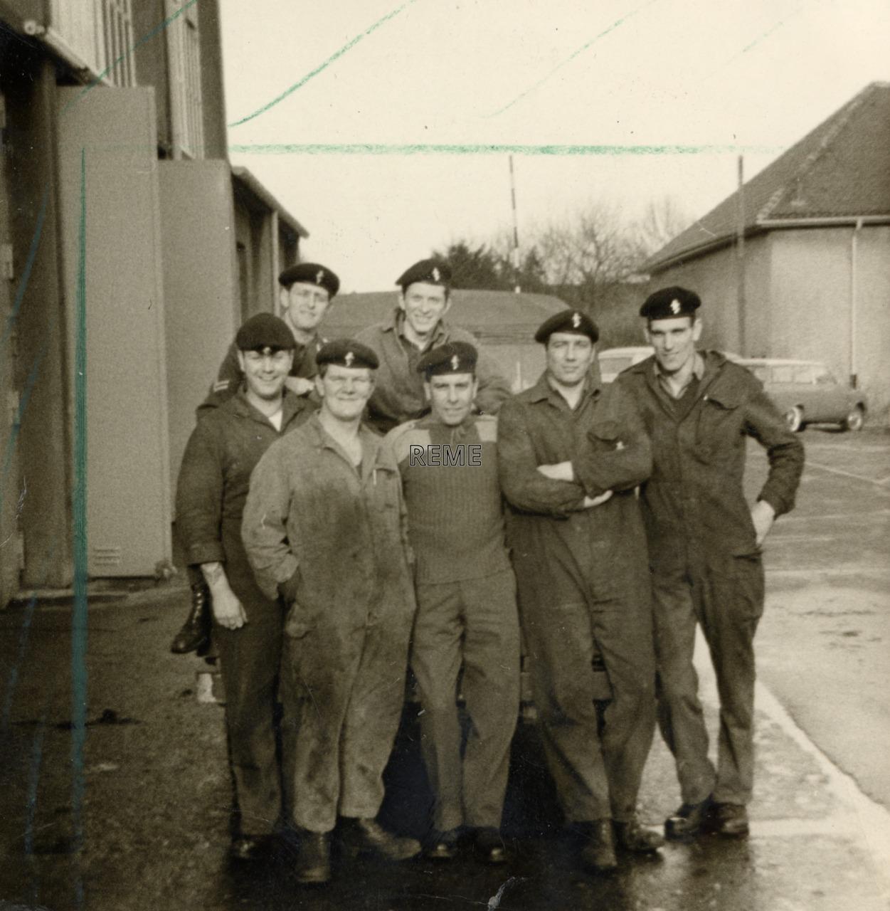 HQ 1 (BR) Corps, Headquarters 1 (British) Corps, and HQ Regt LAD (Headquarters Regimental Light Aid Detachment)