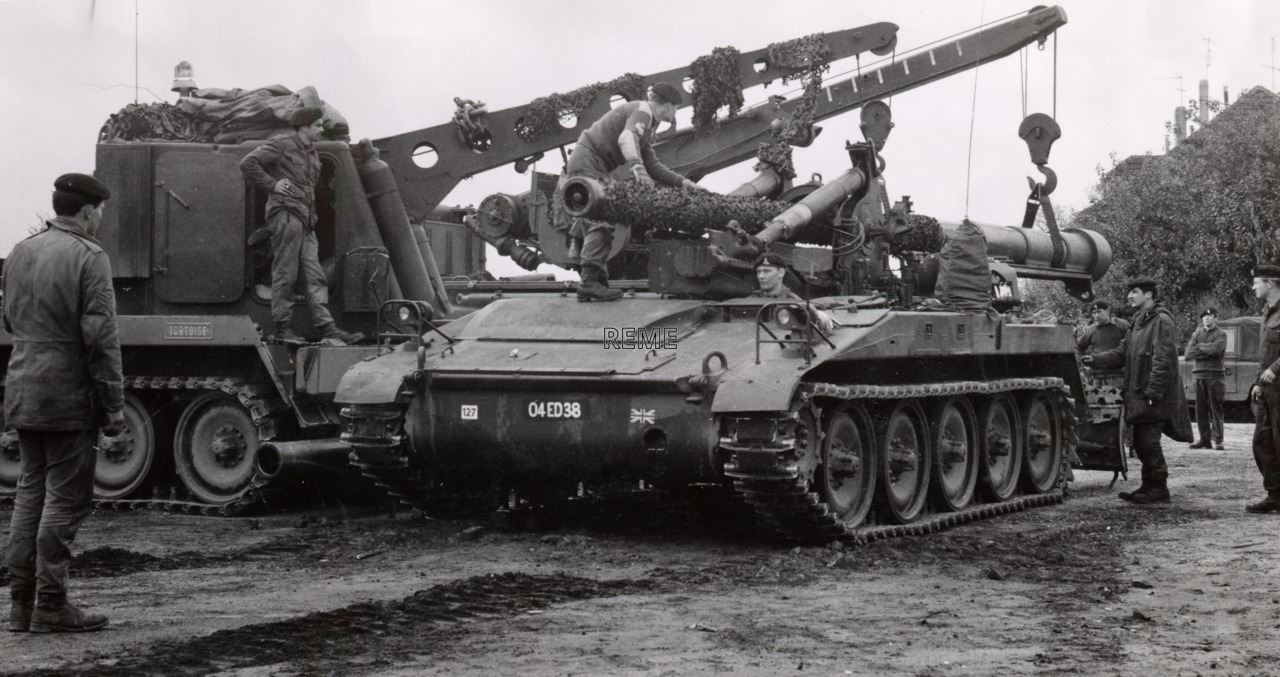 7 Armoured Workshop, Fallingbostel on Exercise