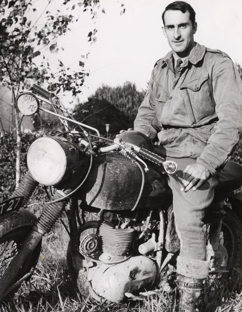 Staff Sergeant NCH Barnard, BAOR (British Army of the Rhine), Motor Cycle Champion, 1970.