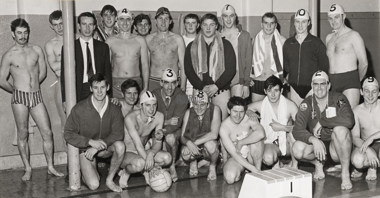 Corps Water Polo Championships, BAOR (British Army of the Rhine)Team Winners, Aldershot.