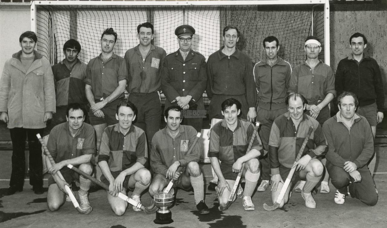REME BAOR (British Army of the Rhine) Hockey Team, Inter-Corps Tournament.