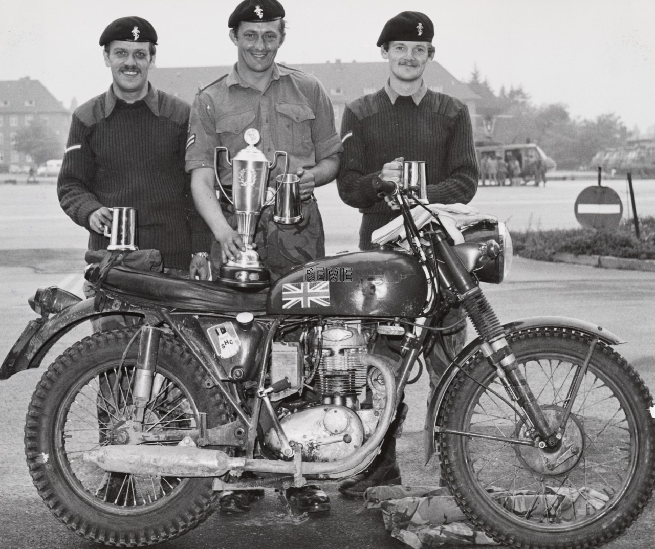 8 Regiment Royal Corps of Transport Workshop, British Army Of the Rhine Motor Cycle Championships Winners, 1976.