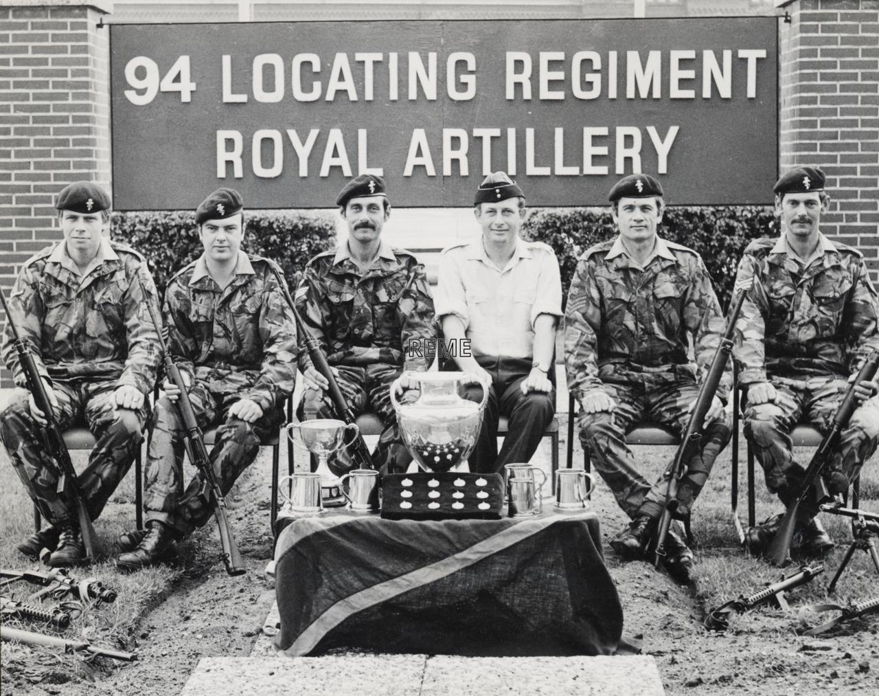 94 Locating Regiment Workshop, Royal Artillery, Celle, Shooting Team