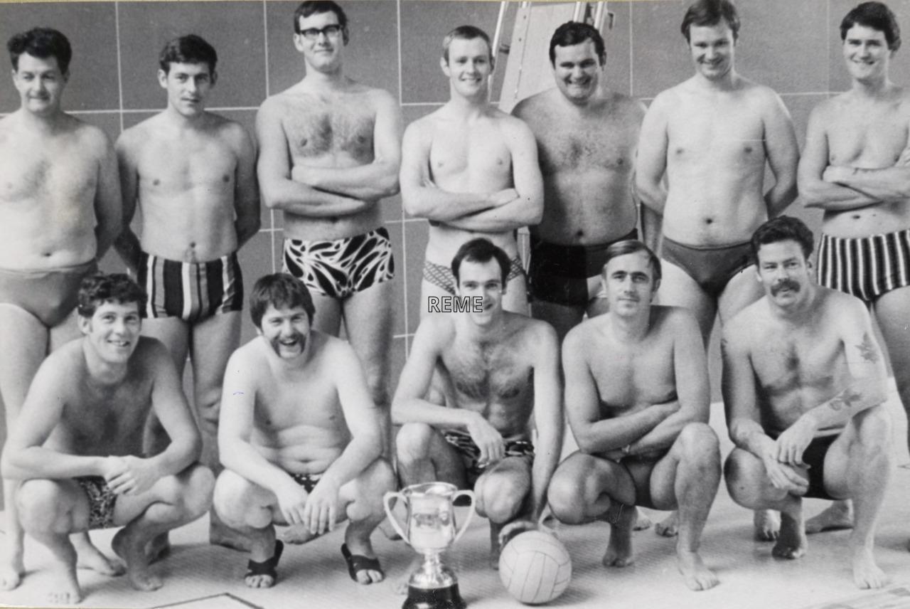 REME British Army of the Rhine (BAOR ) Water Polo Squad 1975.
