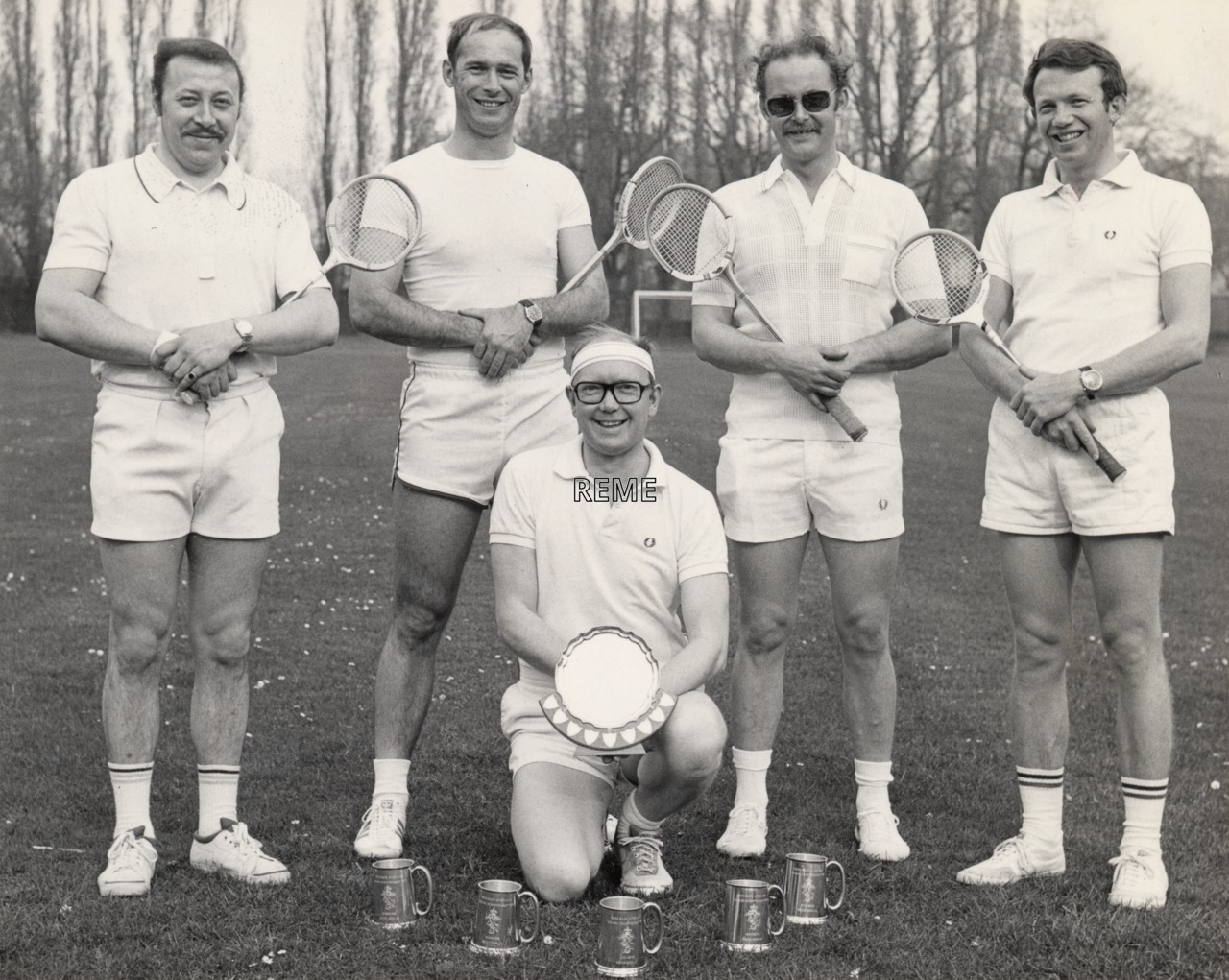 The REME Berlin Squash Team, 1976-1977