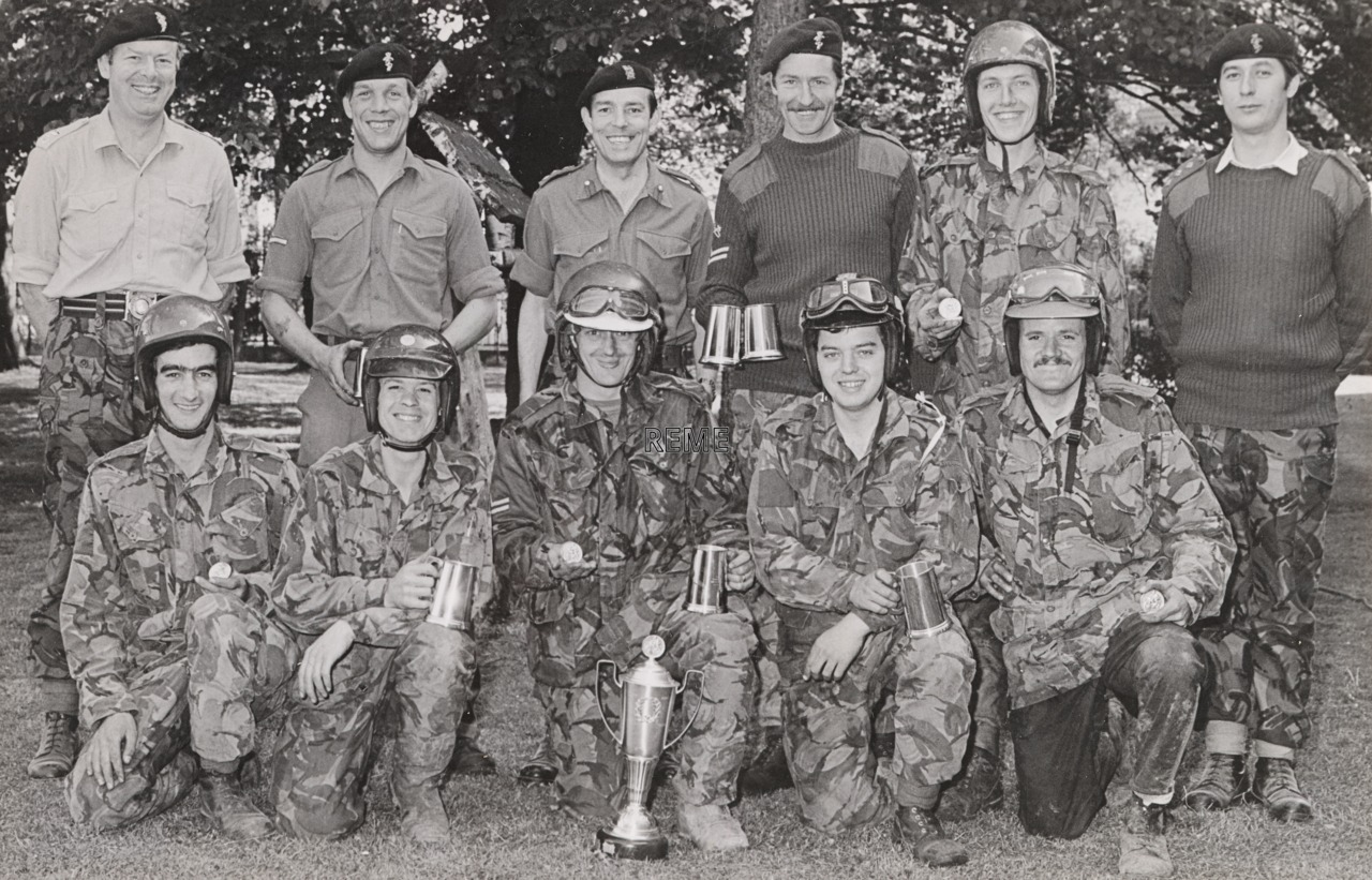 REME Motor Cycle Championships, BAOR (British Army of the Rhine), Herford, 1977