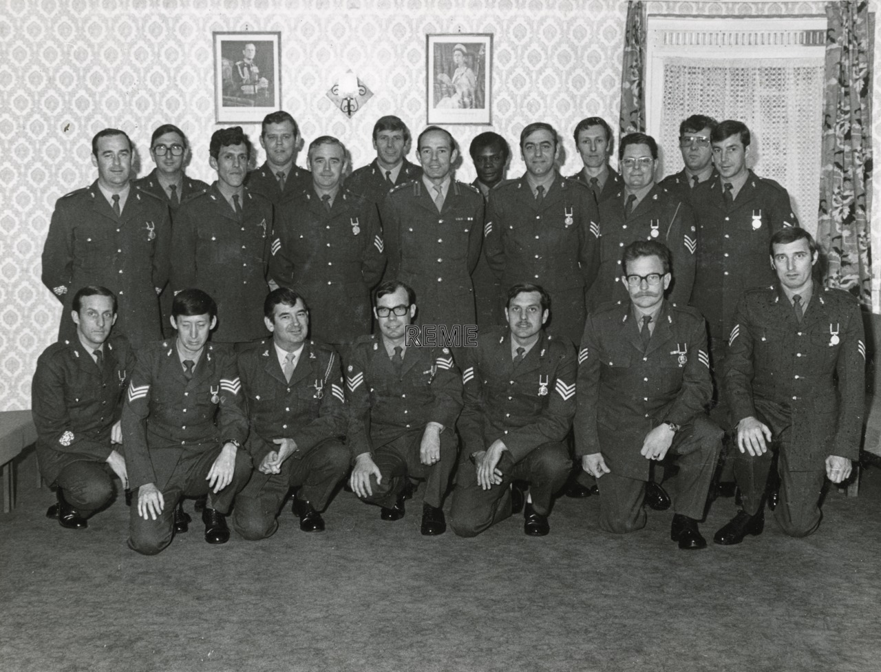 4 Armoured Workshop Long Service and Good Conduct Medals Recipients