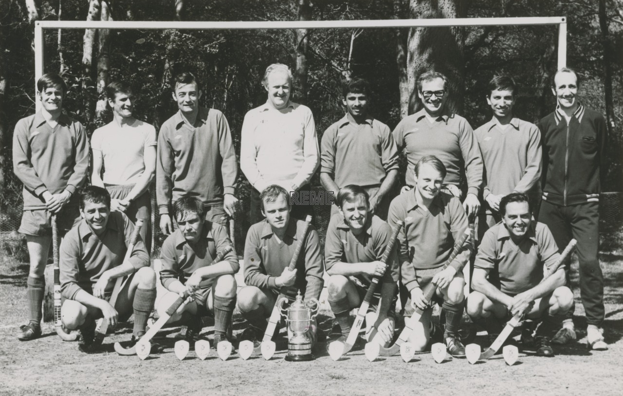Winners of the Ian Marshall Hockey Trophy, REME Bielefeld, Germany,1978