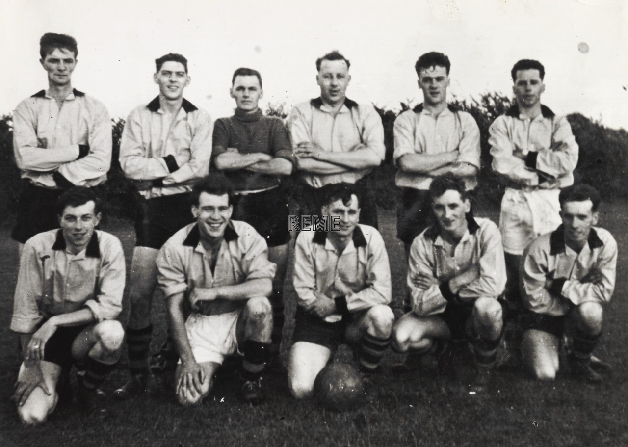 1 Training Battalion, C Coy (Company) Football Team, c 1957.