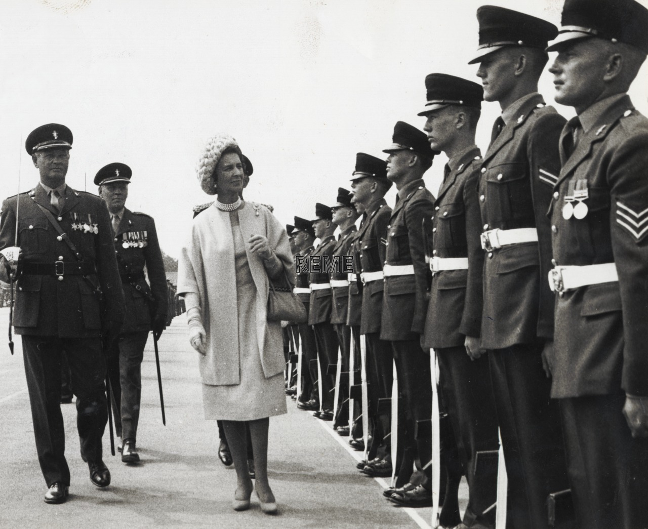 First Visit by HRH Princess Marina, Duchess of Kent, as Colonel in Chief to Aborfield, 1964