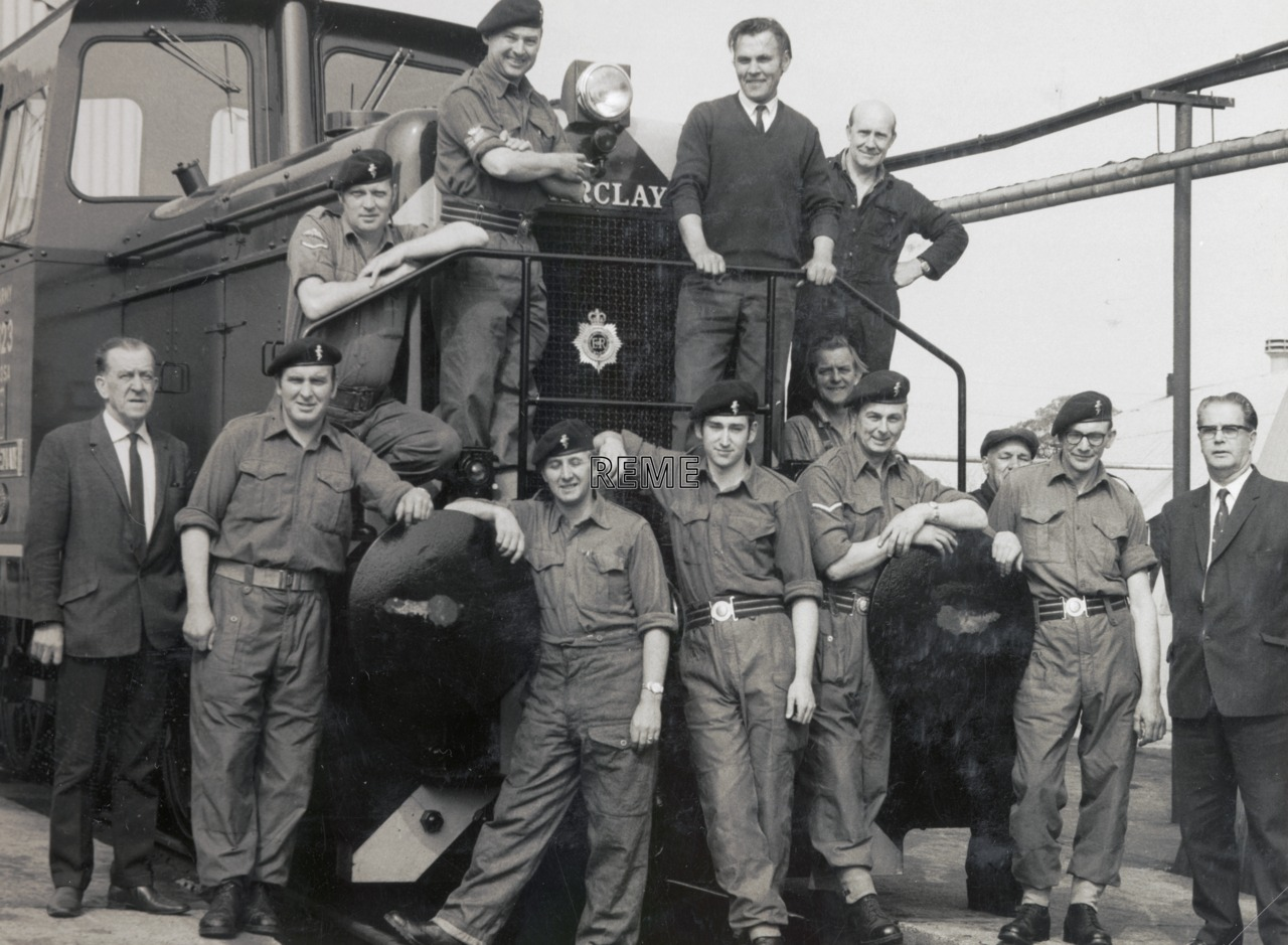 Members of 275 Railway Squadron (V) and civilian staff at Bicester.