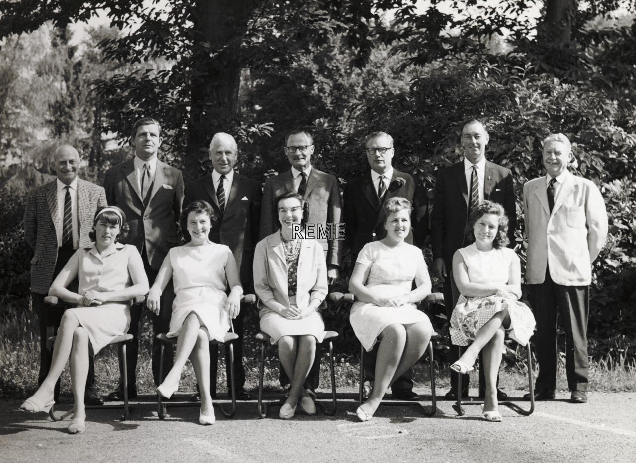 Corps Secretariat REME at Moat House, 1966.