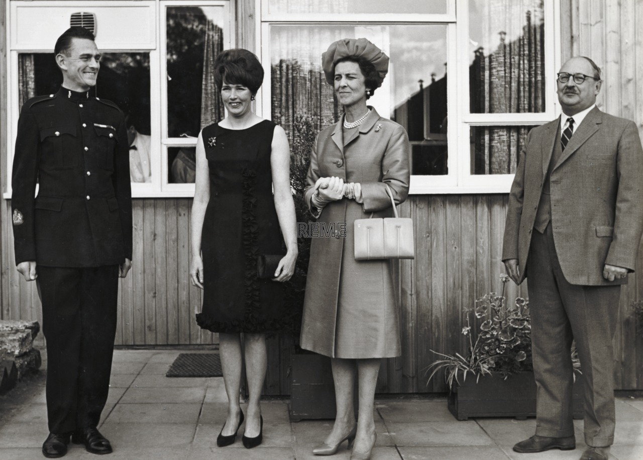 HRH Princess Marina, Corps Colonel in Chief, at Arborfield, 1966.