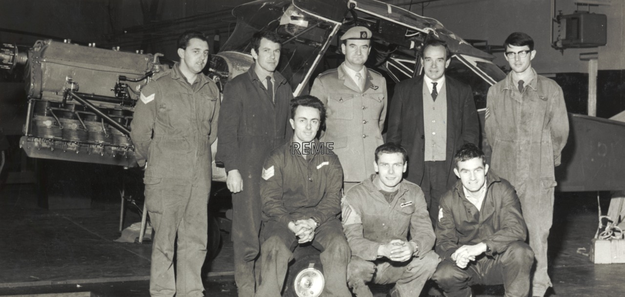 London to Sydney Air Race. The Project Team, 70 Aircraft Workshop, April 1970.