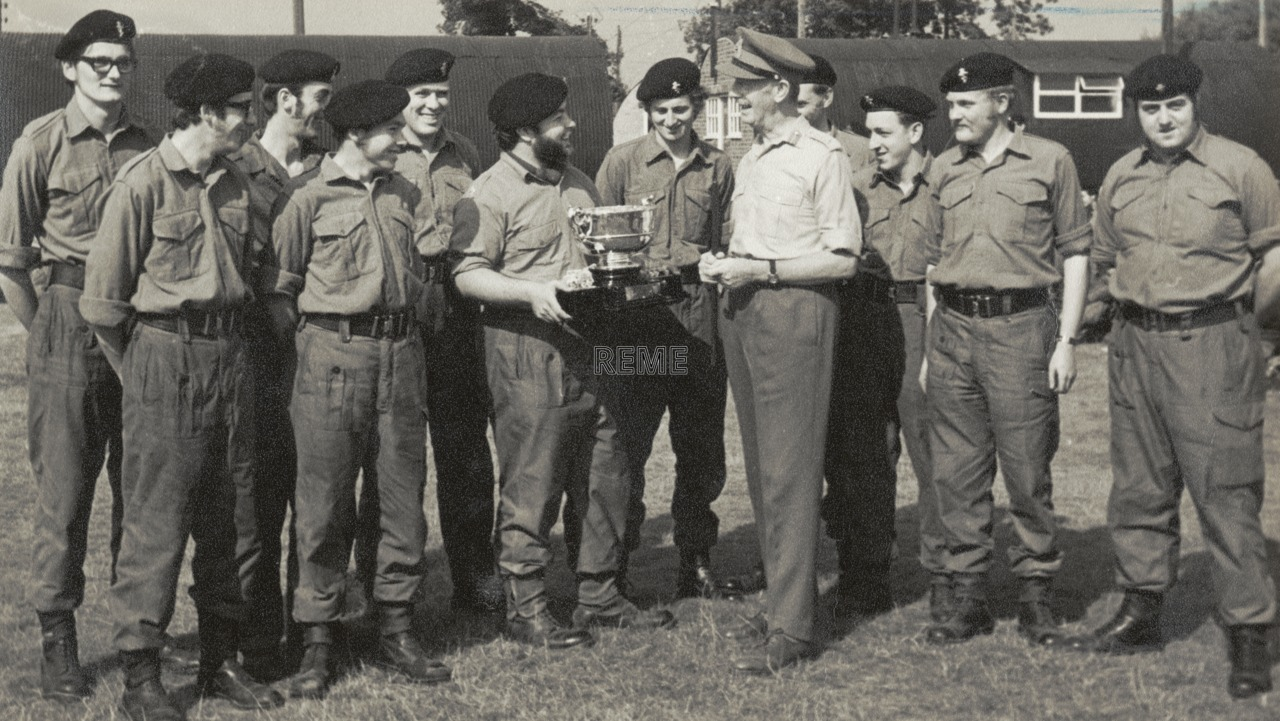 Winning Team, Warcop Trophy 1971, Territorial Army and Volunteer Reserves.