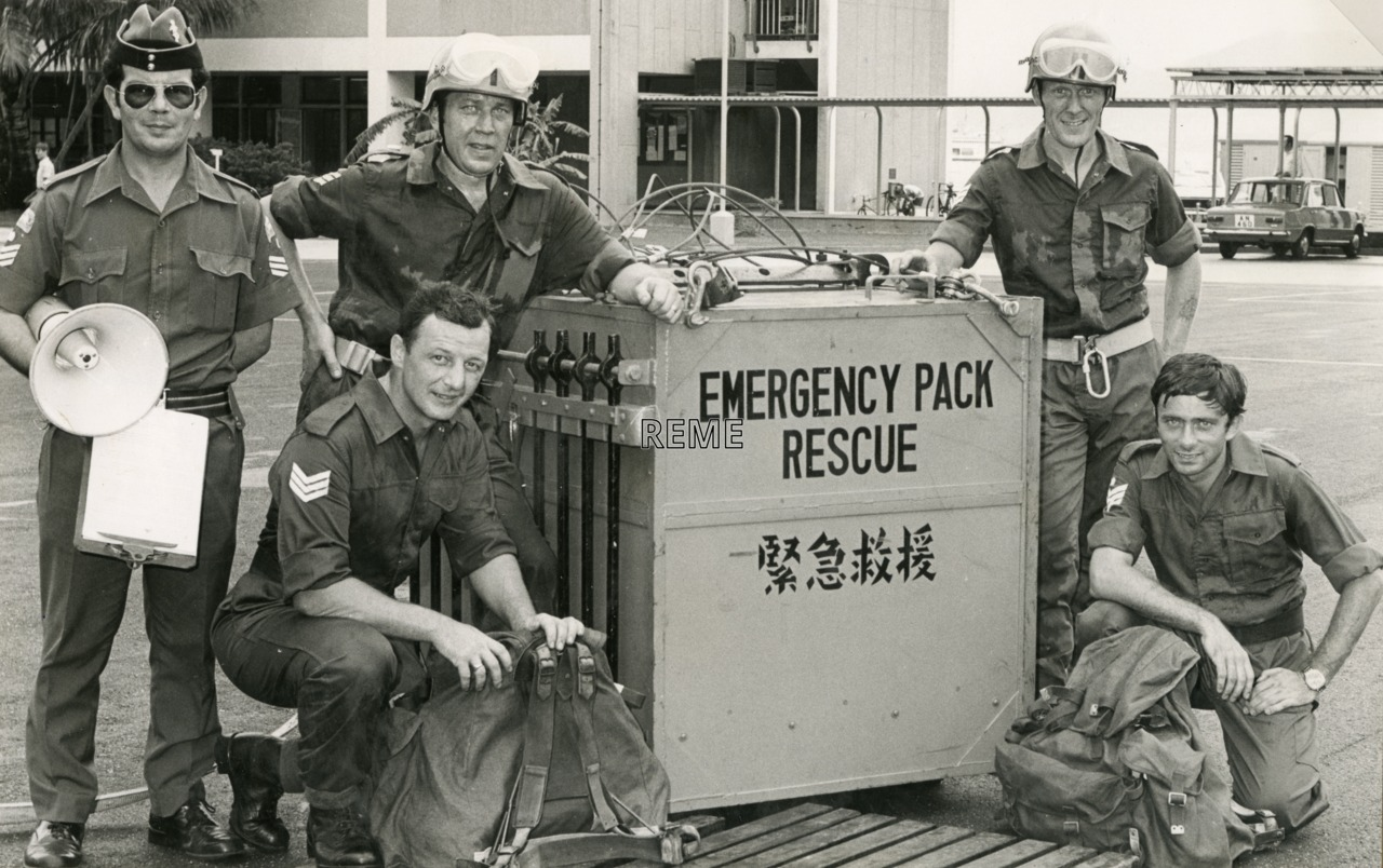 The Emergency Rescue Pack (ERP) with operators from 50 Command Workshop, Hong Kong