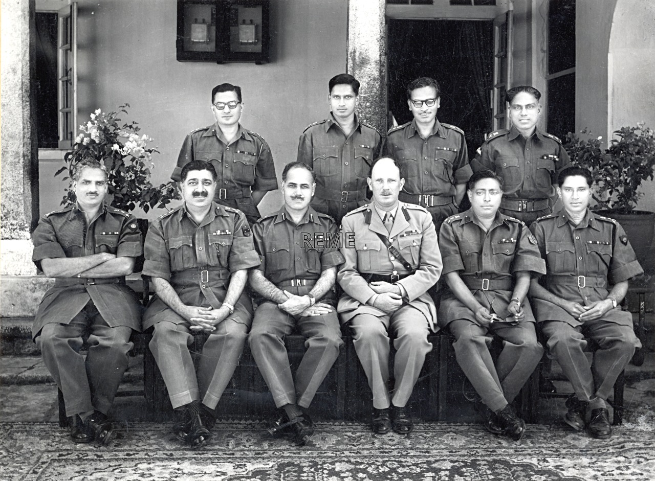 Visit of Brigadier MF Scott, Inspector of REME, to the Corps of Indian Electrical and Mechanical Engineers