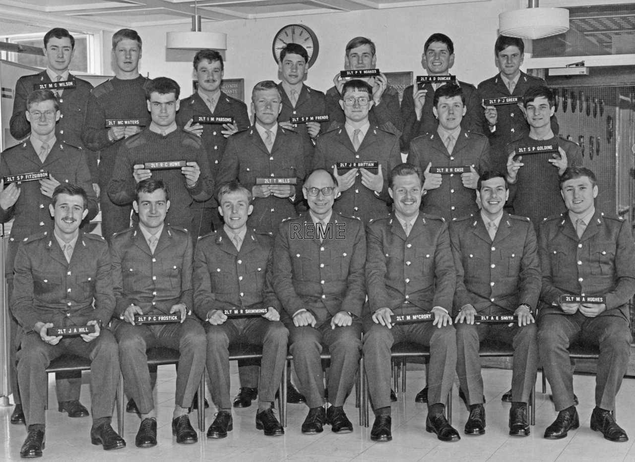 No 81 Regular Young Officers' Course, REME Officers' School, Arborfield.