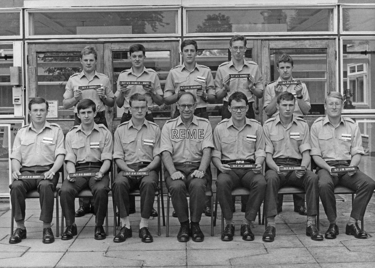 No 82 Regular Young Officers' Course, REME Officers' School, Arborfield.