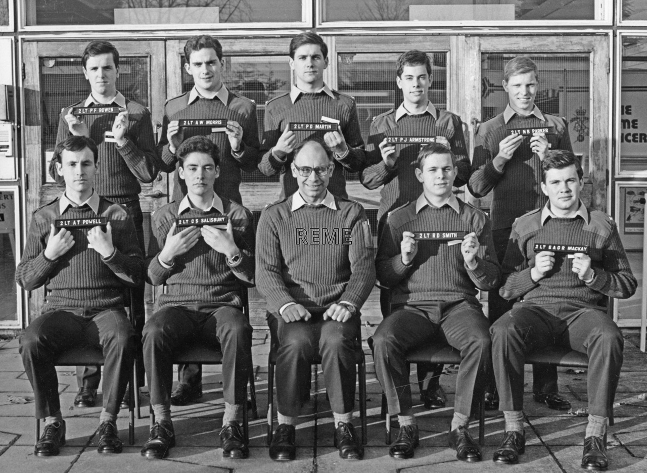 No 83 Regular Young Officers' Course, REME Officers' School, Arborfield.
