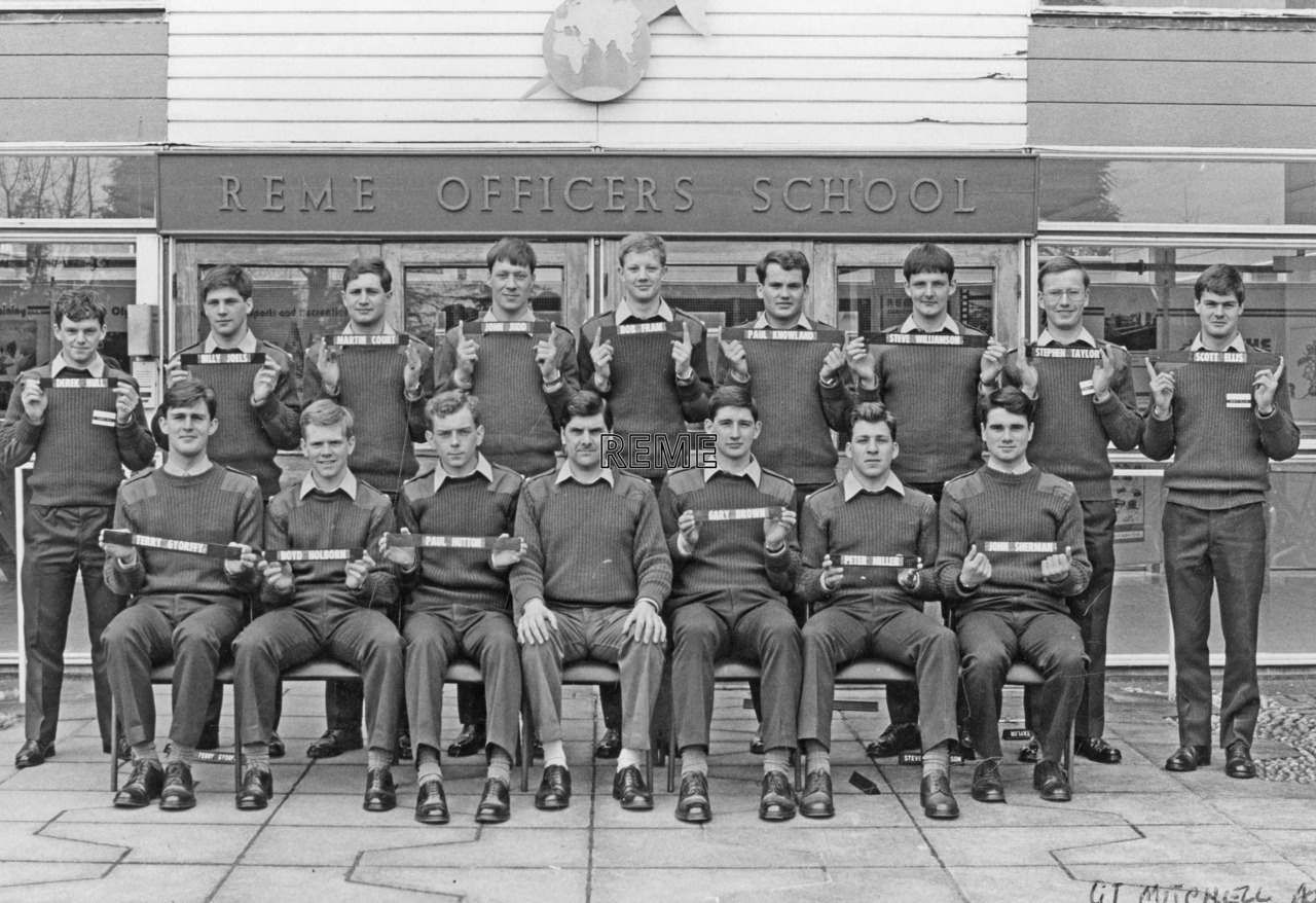 No 84 Regular Young Officers' Course, REME Officers' School, Arborfield.