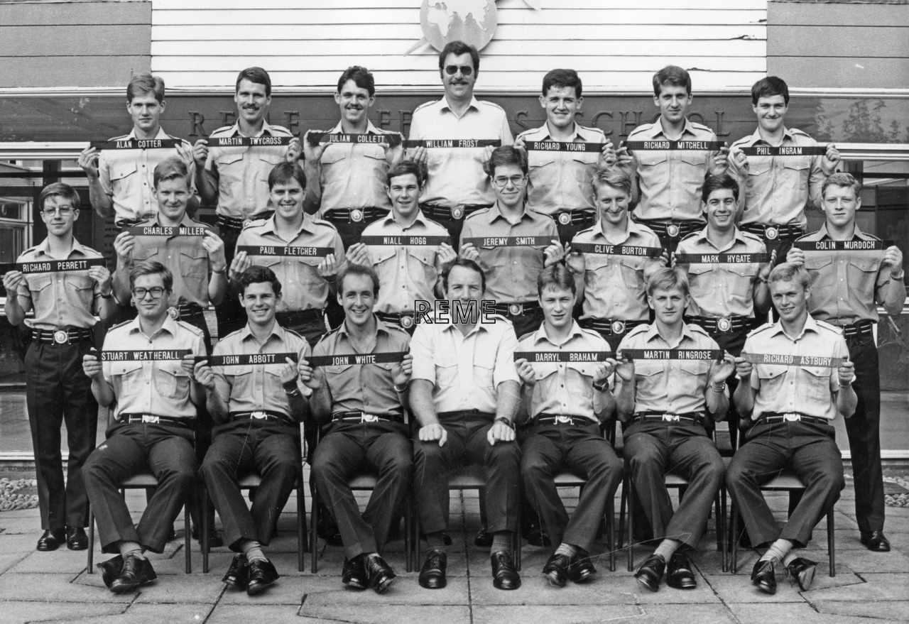 No 85 Regular Young Officers' Course, REME Officers' School, Arborfield.