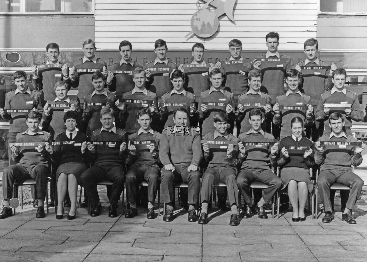 No 87 Regular Young Officers' Course, REME Officers' School, Arborfield.