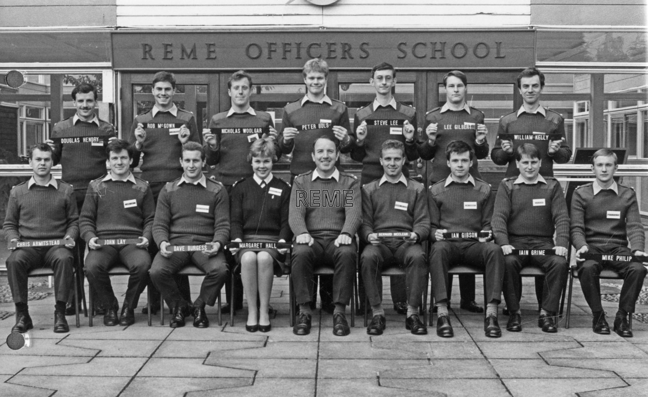 No 88 Regular Young Officers' Course, REME Officers' School, Arborfield.